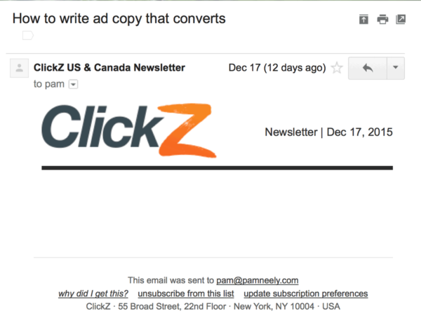Пример емейл письма без картинки, что является одной из ошибок