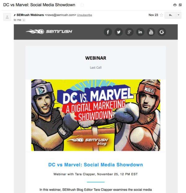 Пример имейл рассылки, где некликабельно изображение