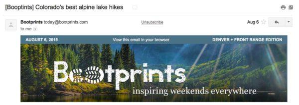 Пример письма Bootprints с ошибками