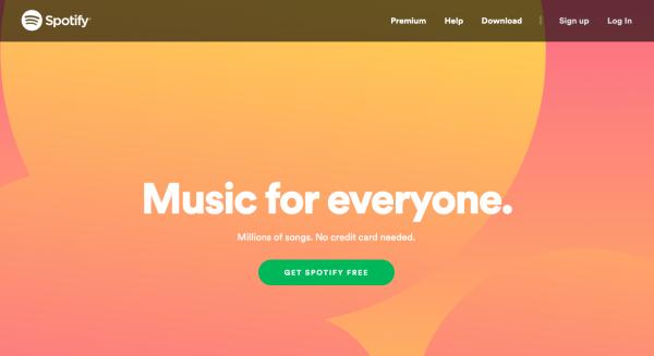 spotify-домашняя страница