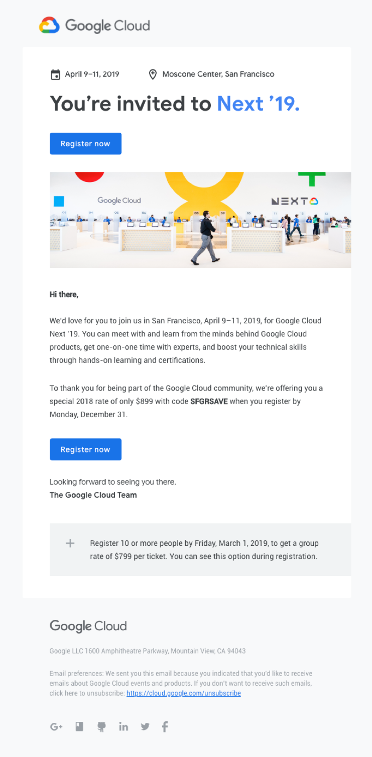 google cloud invitation email