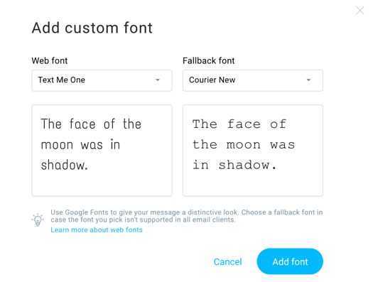 add custom font.