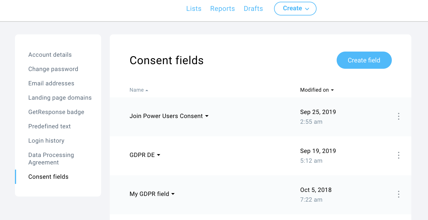 Managing your Consent Fields in GetResponse