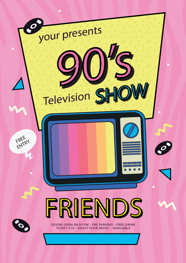 your presents 90s television shows friends ad.