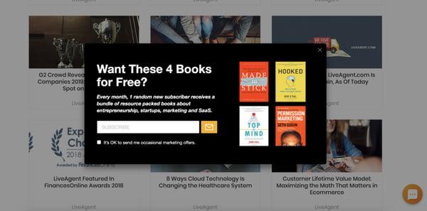 Лид магнит предлагающий оставить емейл адрес и бесплатно получить 4 книги
