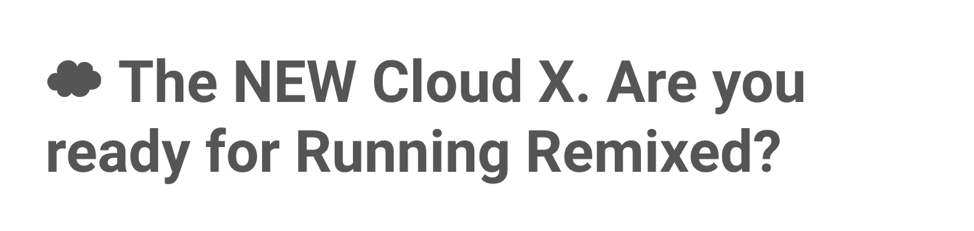 Email subject line with a cloud emoji from Cloud X