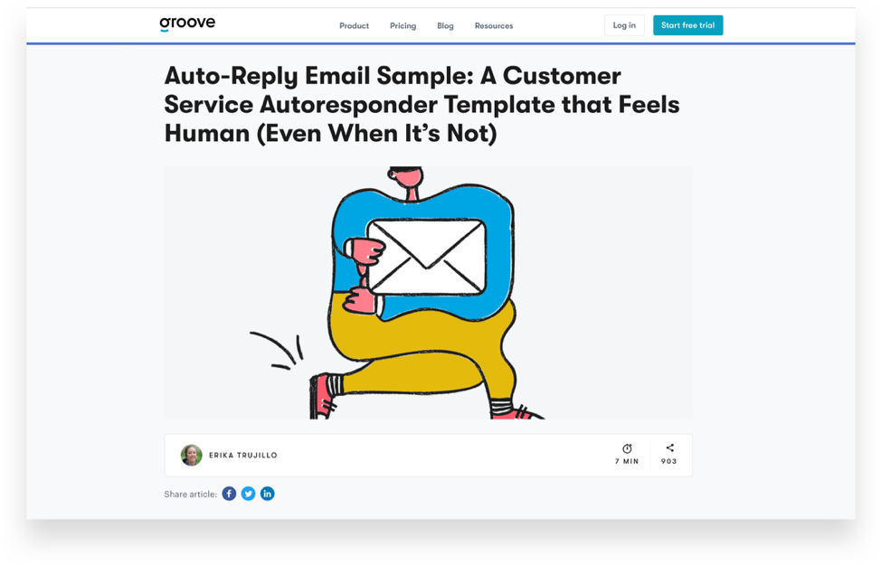 auto reply email landing page.
