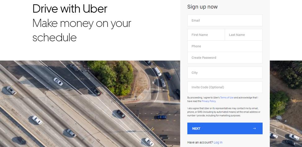Conduisez avec Uber.