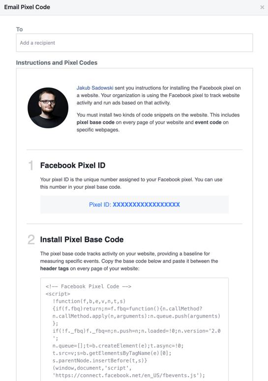Installing Facebook Pixel Base Code.