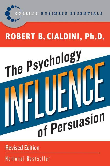 Persuasion book for Solopreneur - Influence The Psychology of Persuasion Book by Dr Robert Cialdini