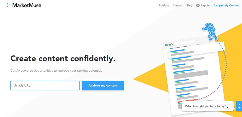 пример кнопки призыва к действию на сайте сервиса MarketMuse