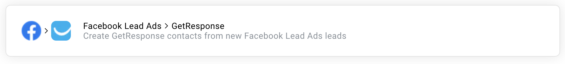 facebook lead ads getresponse zap.