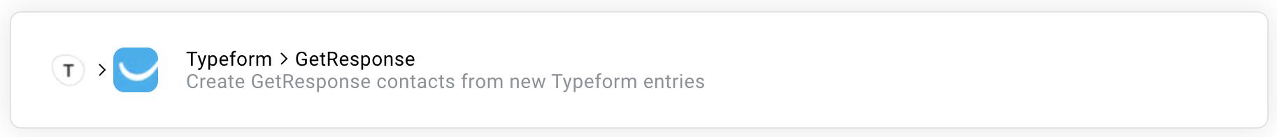 typeform getresponse zap.