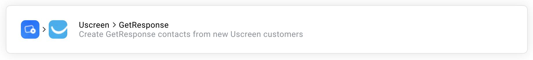 uscreen getresponse zap.