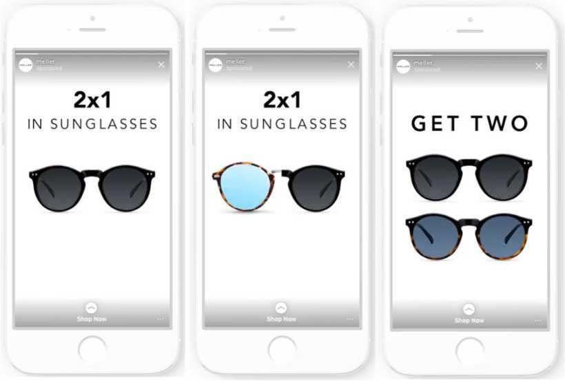 Реклама в инстаграм примеры с солнечными очками от компании Meller