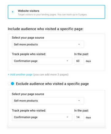 Установка параметров ретаргетинговой кампании Фейсбук на платформе ГертРеспонс