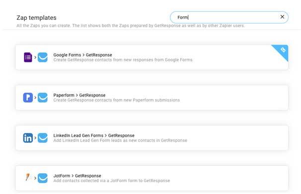 Поиск приложения с интеграцией в Zapier