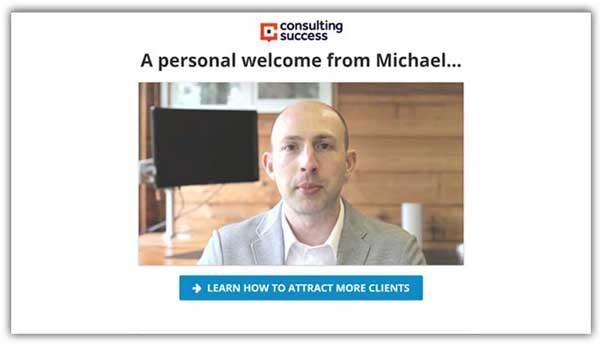 пример страницы благодарности от Consulting Success