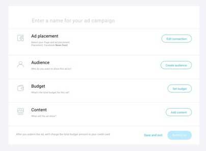 первая страница конструктора рекламы Facebook на платформе ГетРеспонс