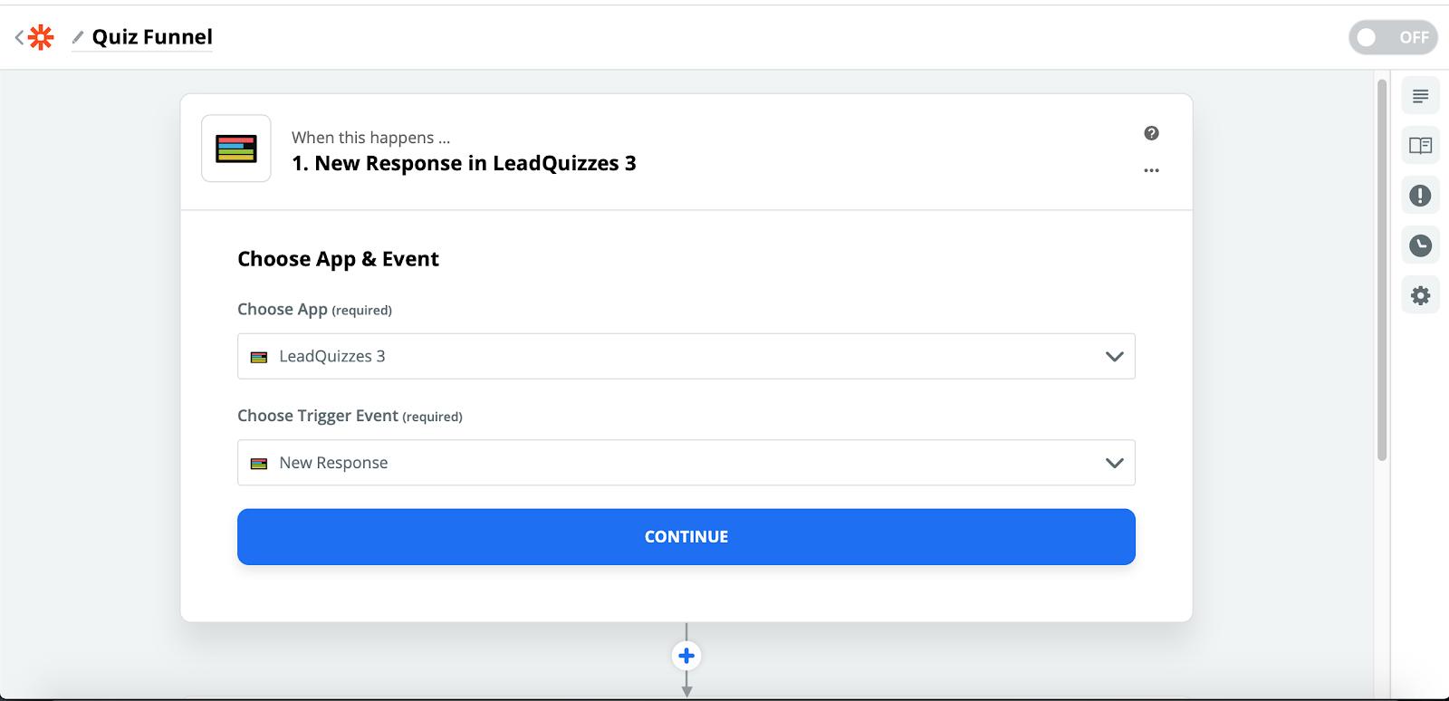 Скриншот с текстом по интеграции LeadQuizzes с ГетРеспонс