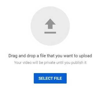 Кнопка загрузки видео роликов на Ютуб канале