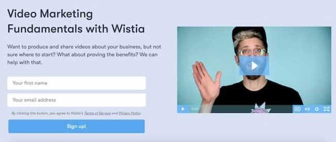 лидогенерация пример: контент с регистрацией на email-курс по видеомаркетингу