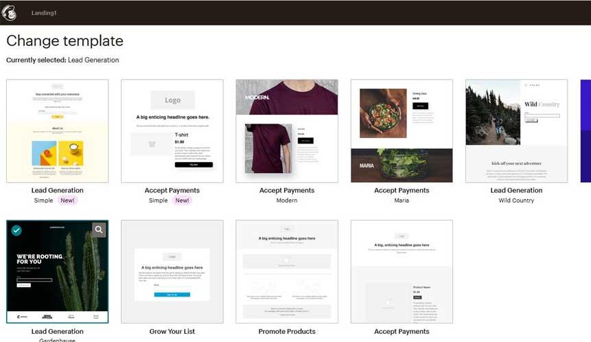 скромная коллекция шаблонов и сервис рассылки писем MailChimp