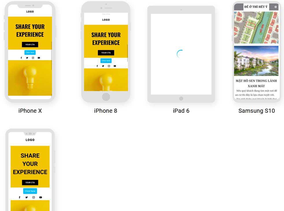 предпросмотр на разных устройствах GetResponse