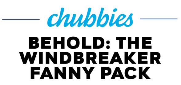 Chubbies product launch email template - header section.