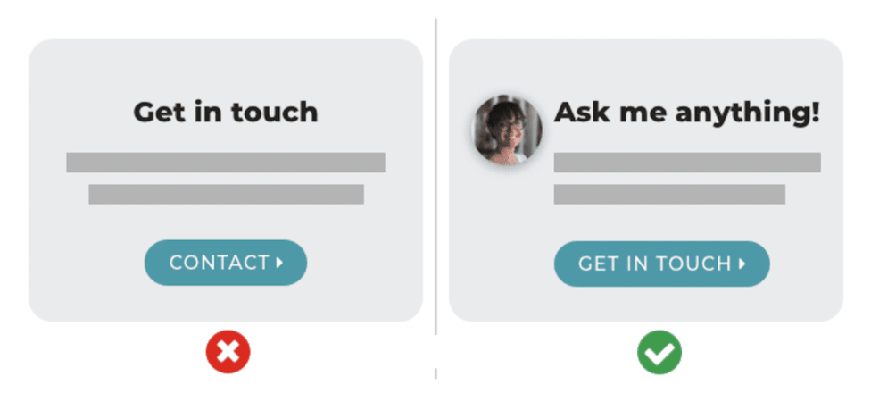 How to make your CTA buttons more personal through copy and images.