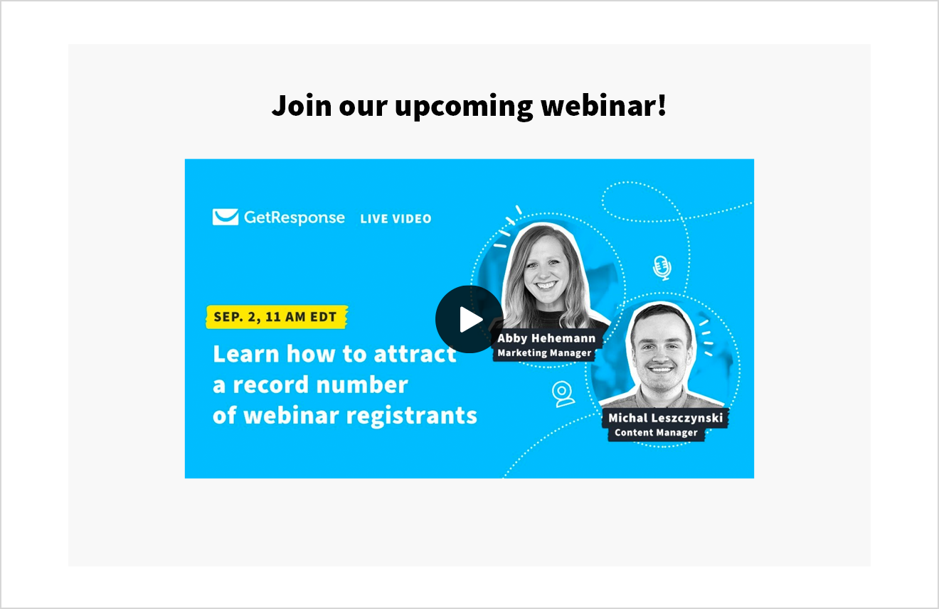 Video in email template.