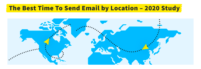Header with the title - The Best Time to Send Email by Location - 2020 Study.