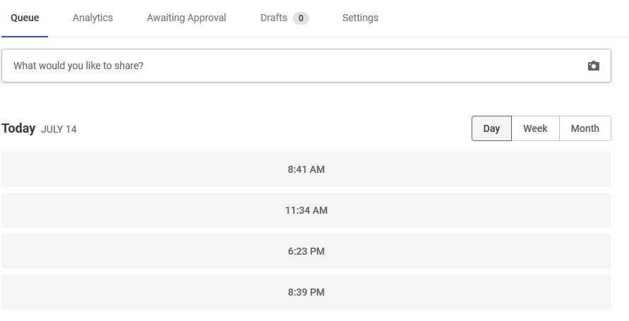 Удобный планировщик размещения постов с опцией идеального времени в Баффер