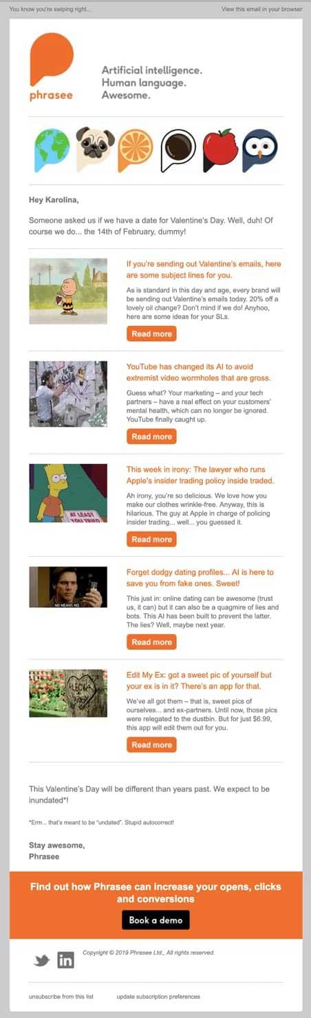 Дайджест самого свежего контента блога Phrasee и других онлайн-ресурсов.