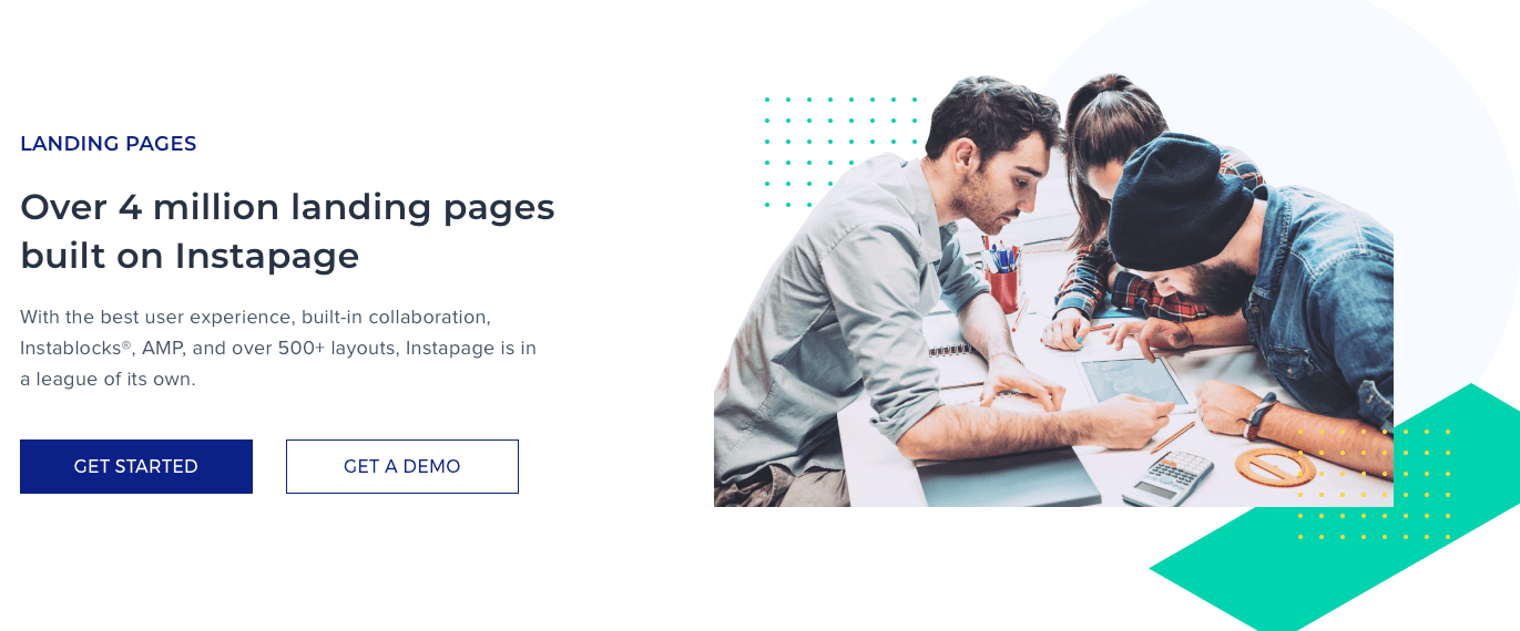 instapage banner landing page