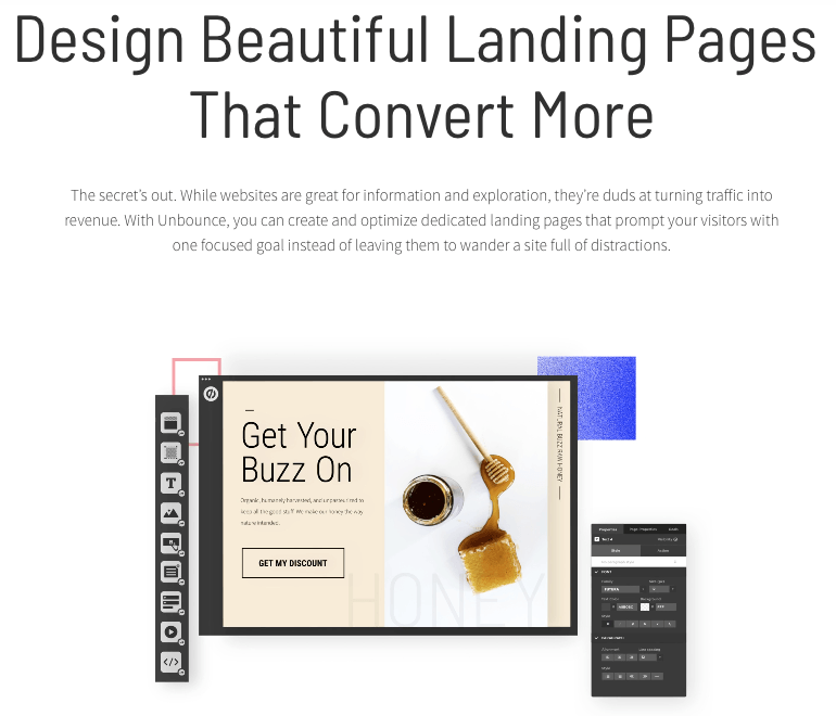 unbounce landing page editor