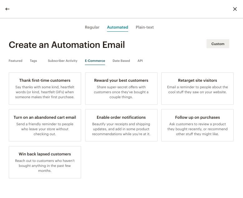 autoresponder mailchimp dashboard