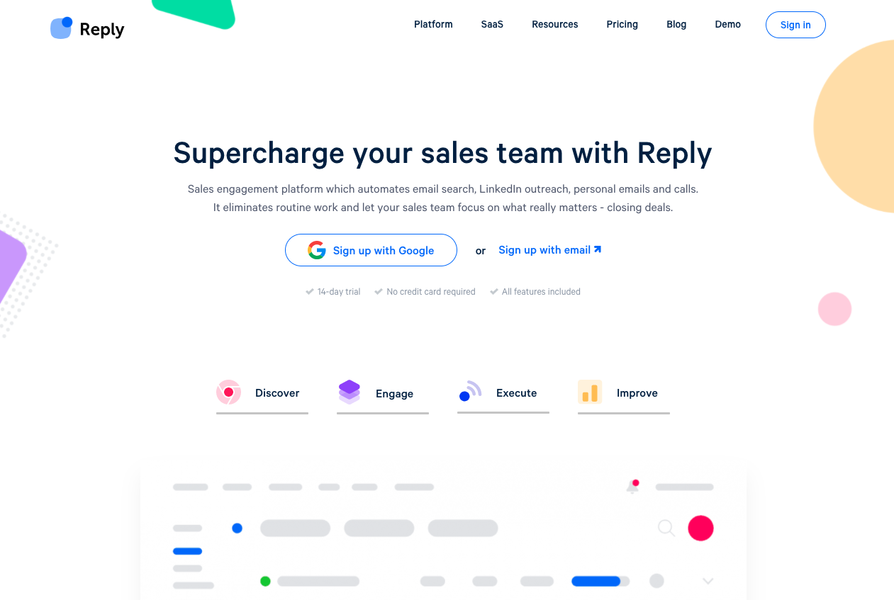 Reply.io for inbound and outbound sales.