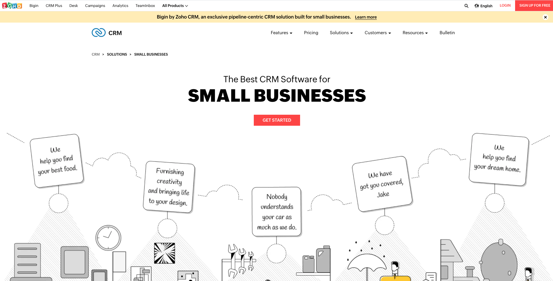 ZOHO CRM for Small and Medium Businesses.