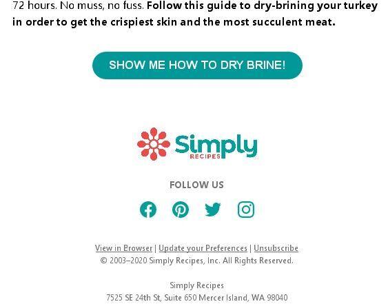 пример футера от Simply Recipies