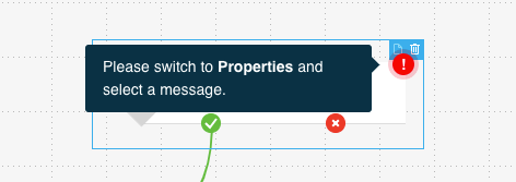Example text showing after you hover over the exclamation point