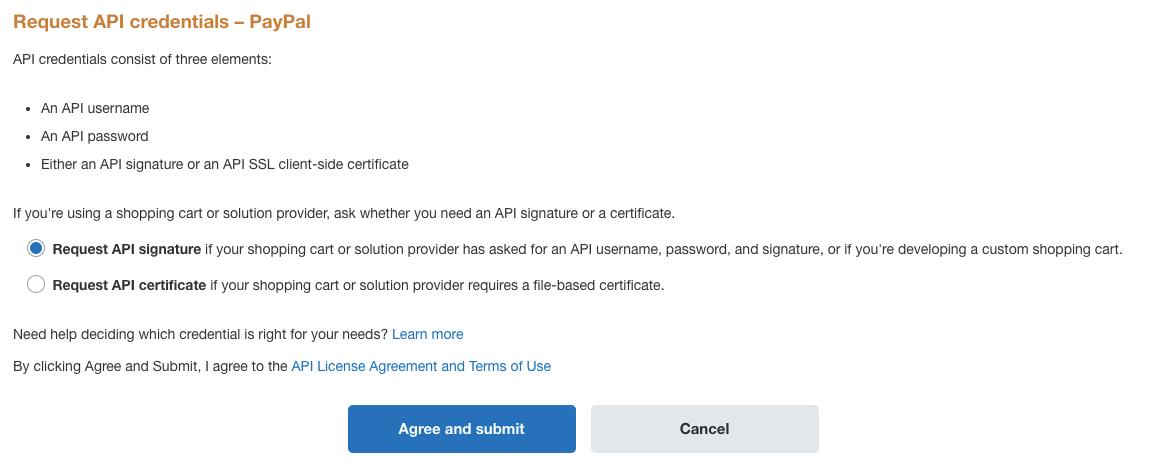 выбран запрос API подписи