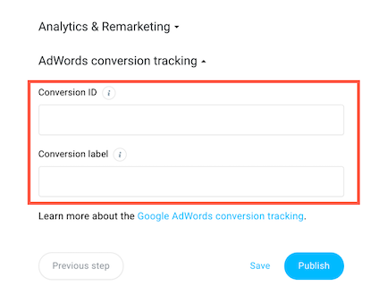 adwords tracking.