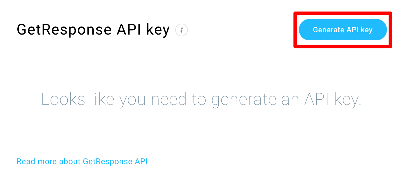 position of the generate api key button