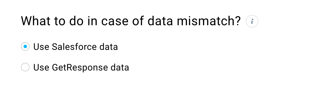 Manage data mismatch options