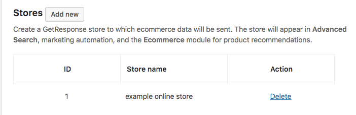 example store shown in the plugin
