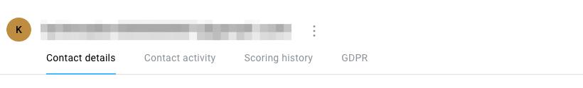 Tabs in contact profile tab