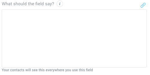 Field where you can enter consent text is shown