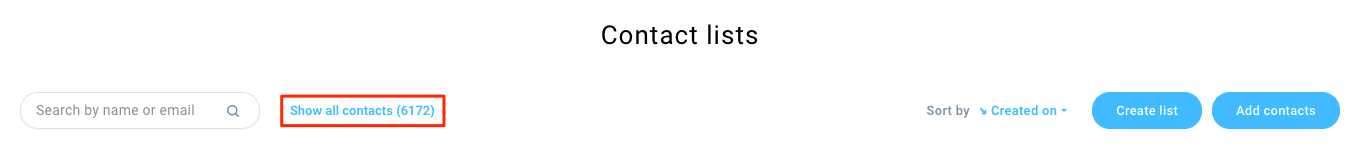 Show all contacts link