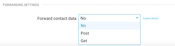 forward data option